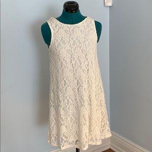 Cream lace shift dress